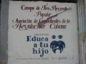 Educa a Tu Hijo (Educate Your Child), Museo de la Revolucion Cubana, Habana, Cuba, June 2012