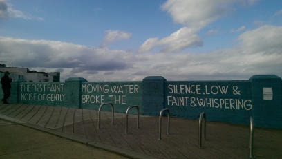 """The first faint noise of gently moving water broke the silence, low&faint&whispering"", Dun Laoghaire, Ireland, March 2014"