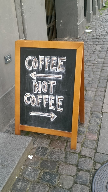 Coffee/not coffee, Copenhagen, June 2015