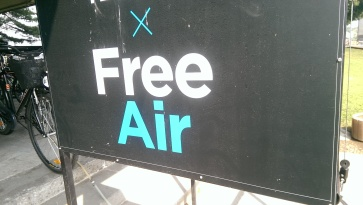 ...Presumably as opposed to charged-for air? Belgrade, September 2015